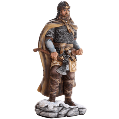 Full Color Viking Warrior Statue