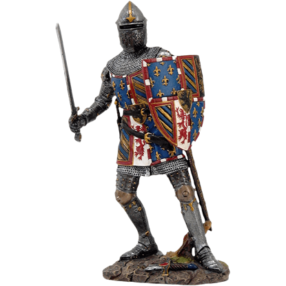 Crested Medieval Knight Statue