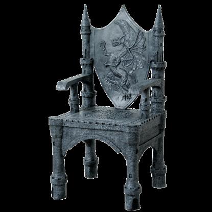 Fantasy Dragon Castle Throne