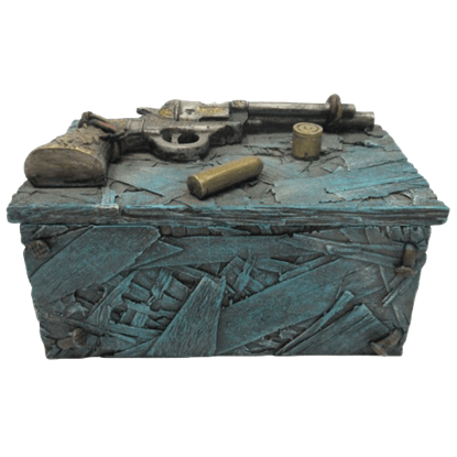 Western Revolver Trinket Box