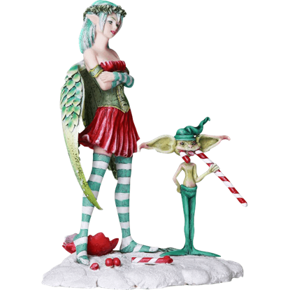 Naughty Christmas Fairy Statue