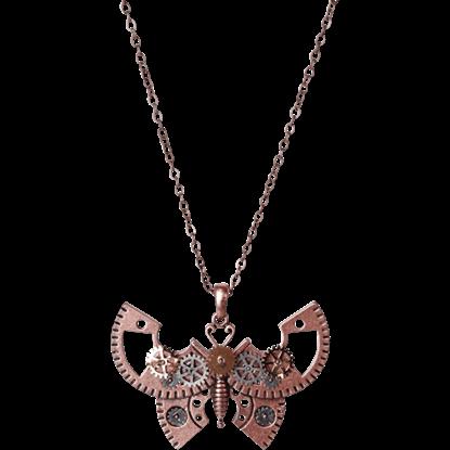 Gear Butterfly Necklace