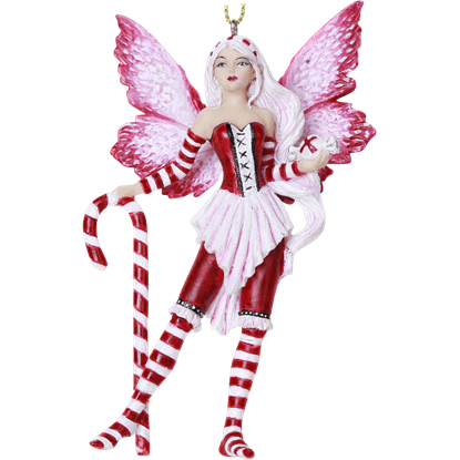 Peppermint Fairy Hanging Ornament