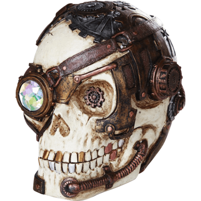 Crystal Eyed Steampunk Skull