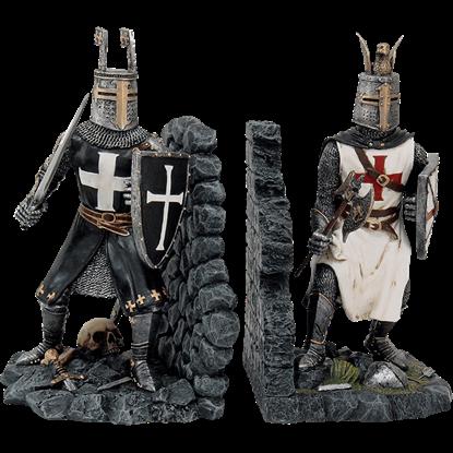 Crusader Knights Bookend Set