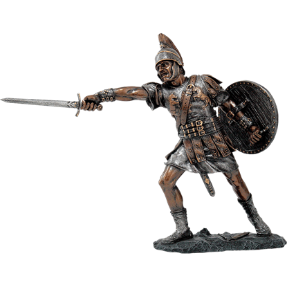 Attacking Roman Soldier Statue