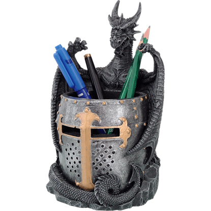 Dragon and Helmet Pen Holder