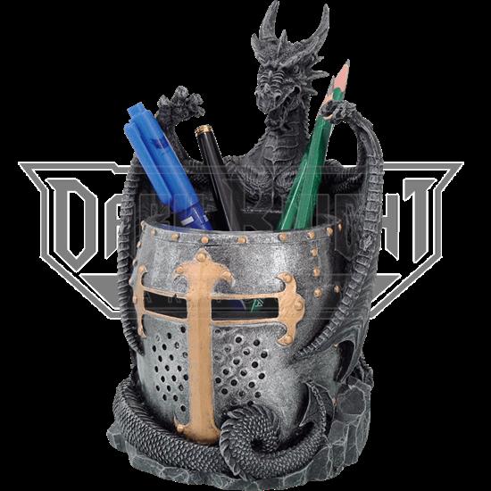 Dragon and Helmet Pen Holder