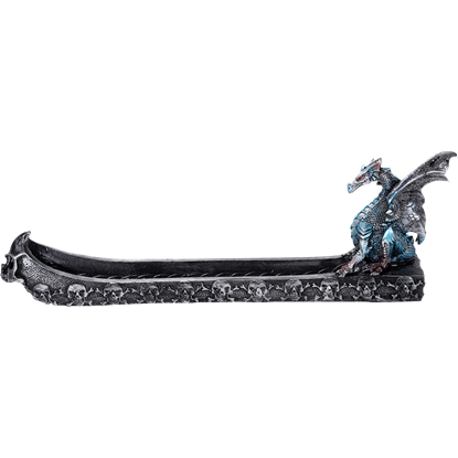 Blue Dragon Skull Boat Incense Burner