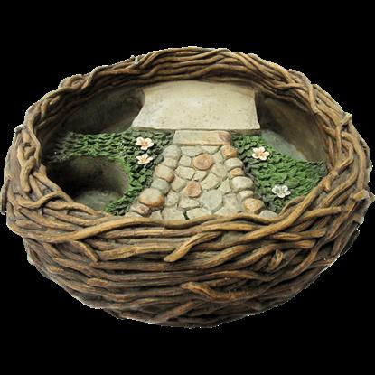 Bird Nest Fairy Garden Planter Display