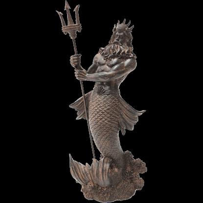 Antiqued Poseidon Statue
