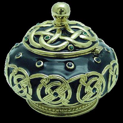 Celtic Jeweled Pot