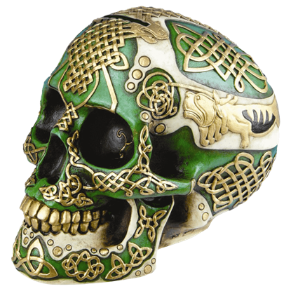 Celtic Lion Skull Savings Bank