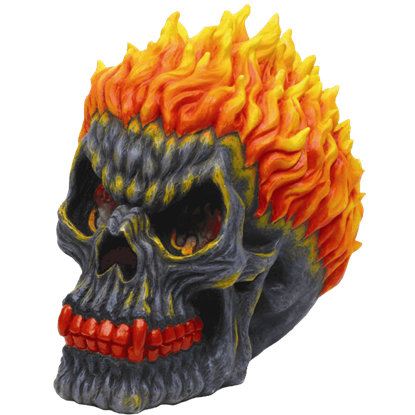 Fiery Skull Money Bank