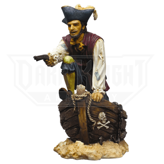 Pirate With Pistol Statue