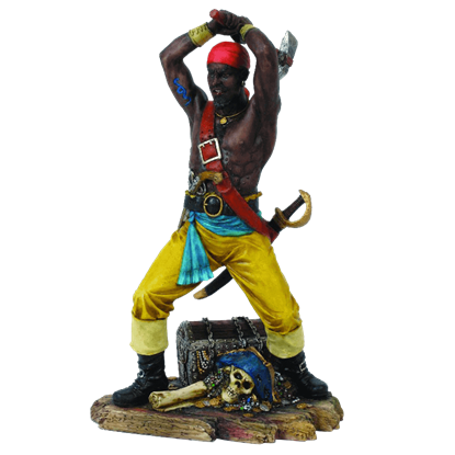 Pirate With Axe Statue