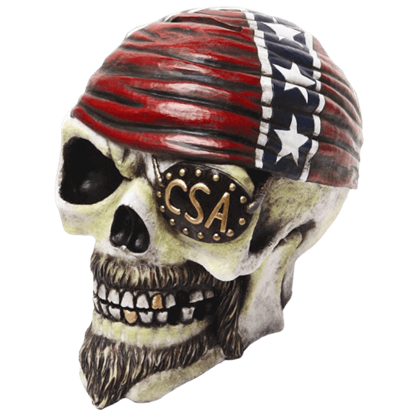 Rebel Confederate Skull Bank