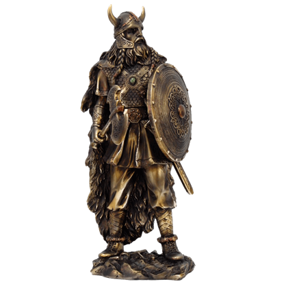Standing Viking Warrior Statue