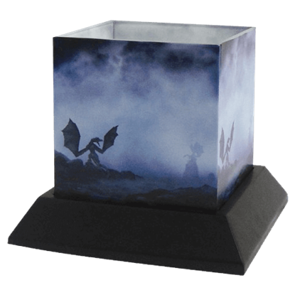 Dragon Myst Candle Hurricane by Julie Fain