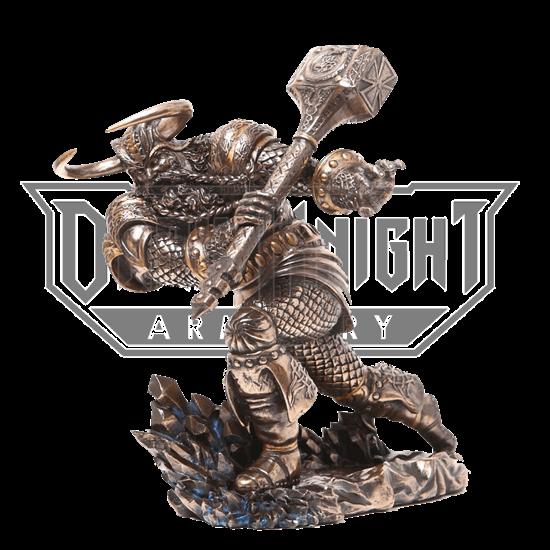 Bronze Thor Attacks Statue