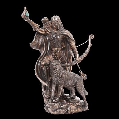 Bronze Skadi Statue
