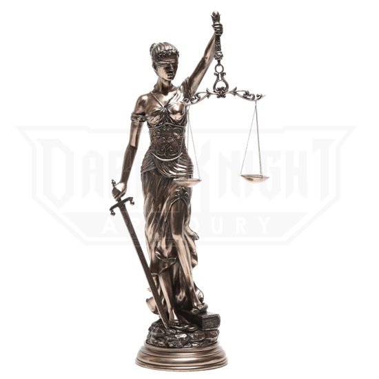 Bronze Lady Justice Statue