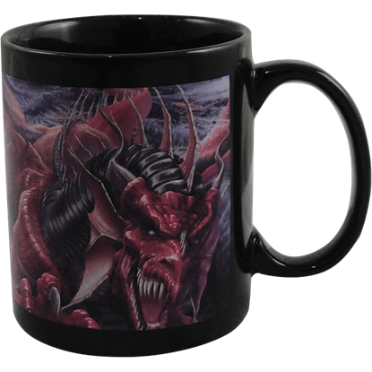 Dragons Night Ceramic Mug by Tom Wood