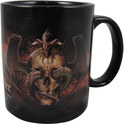 Dragons Dissent Ceramic Mug by Tom Wood
