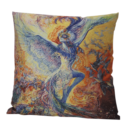 Blue Bird Pillow by Josephine Wall