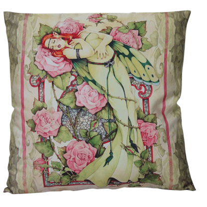 Entwined Pillow by Linda Ravenscroft