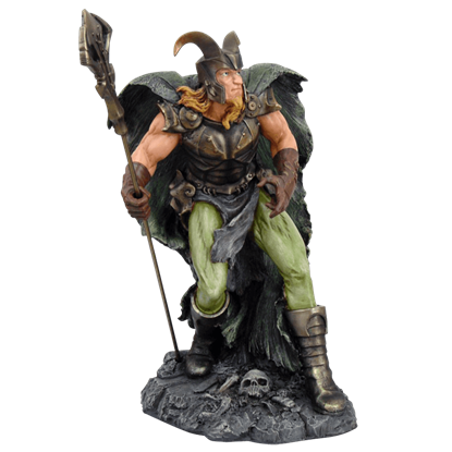 Full Color Loki Statue