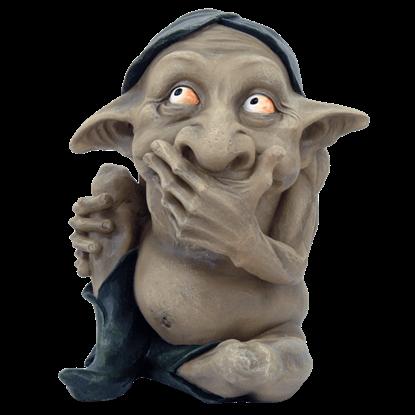 Speak No Evil Goblin Statue