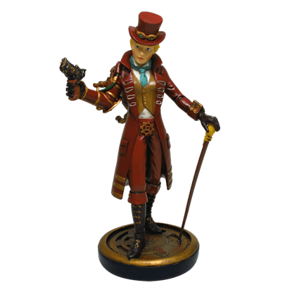 Dapper Steampunk Lady Statue