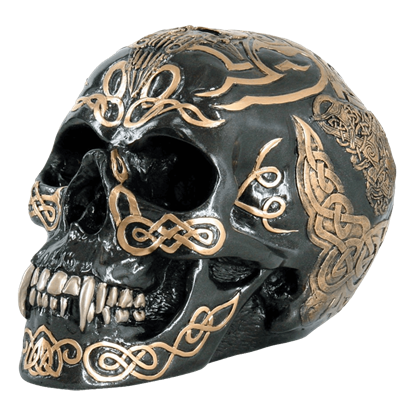 Black Celtic Skull