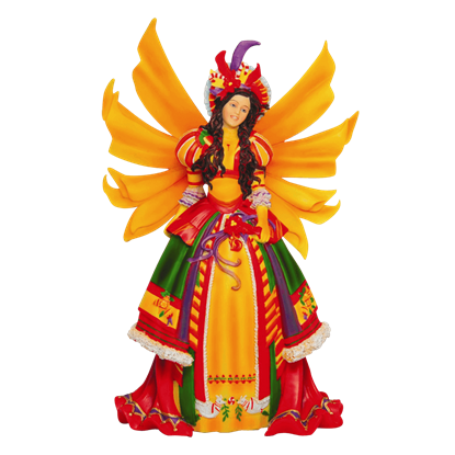 Colorful Christmas Faery Statue
