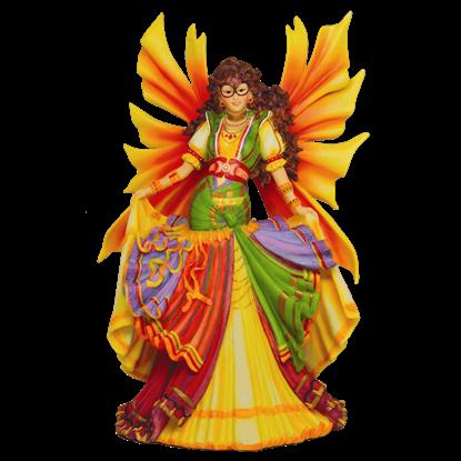Colorful Gypsy Dancer Faery Statue