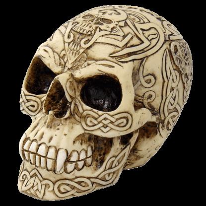 Carved Celtic Skull