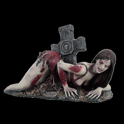 Graveside Zombie Girl Statue