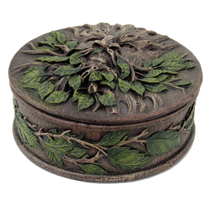 Round Greenman Trinket Box