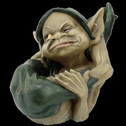 Playful Garden Goblin Statue