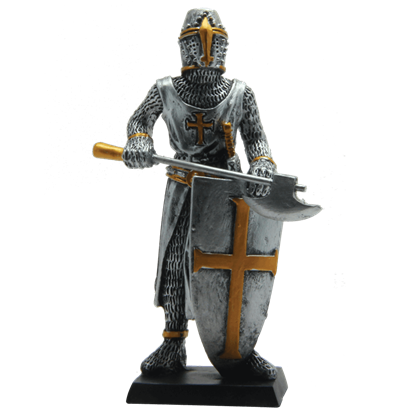 Medieval Knight Axeman Statue