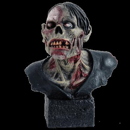 Grimacing Zombie Bust