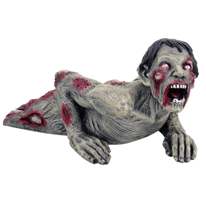 Crawling Zombie Statue
