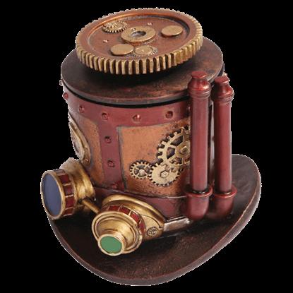 Mechanized Steampunk Top Hat Box