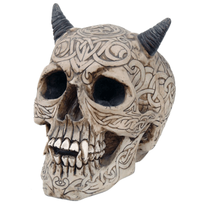 Celtic Carved Devil Skull