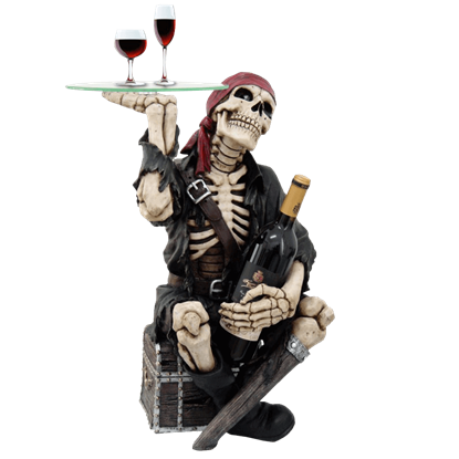 Skeletal Pirate Wine Table