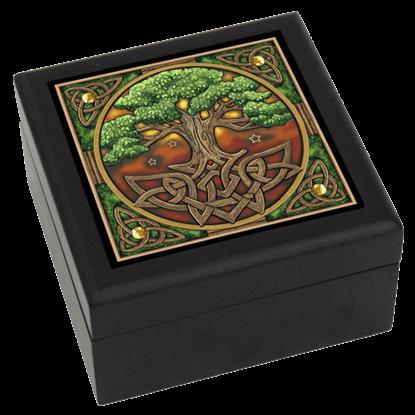 Celtic Tree of Life Tile Box