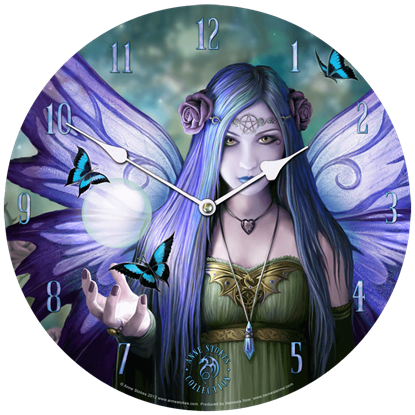 Mystic Aura Wall Clock by Anne Stokes