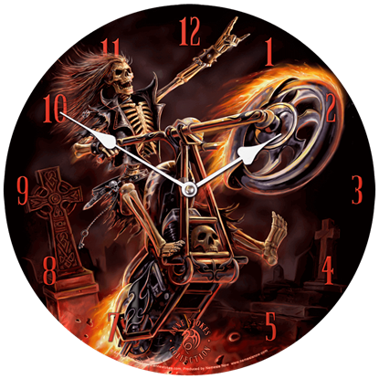 Hell Rider Wall Clock by Anne Stokes