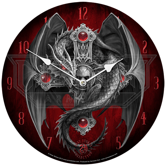 Gothic Guardian Wall Clock by Anne Stokes